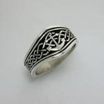 Celtic Tapered Band with Anchor