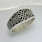 Celtic 6pt Knot-Wide Signet Ring
