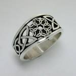 Celtic Dara Knot with 6 Interlocking Triangles-Pierced