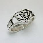 Celtic Double Heart Knot-Pierced